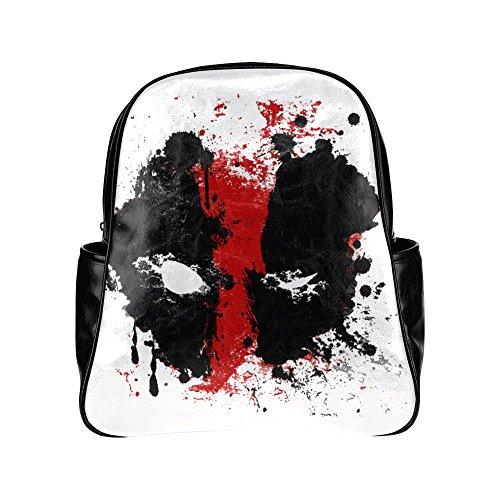 Wihuae Deadpool Black Multi-pocket Backpack Bag