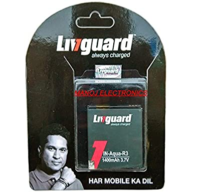 Livguard 1400mAh Battery (For Intex Aqua R3 Plus)