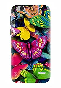 Noise Designer Printed Case / Cover for Lyf Water 2 / Nature / Butterflies Design