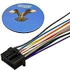 HQRP Car Stereo Wiring Harness 16 pin Wire Cord Plug for Pionner AVH-X1500DVD, AVH-X2500BT, AVH-X3500BHS, AVH-X4500BT, AVH-X5500BHS, AVH-X8500BHS Double-DIN DVD Receiver + HQRP Coaster