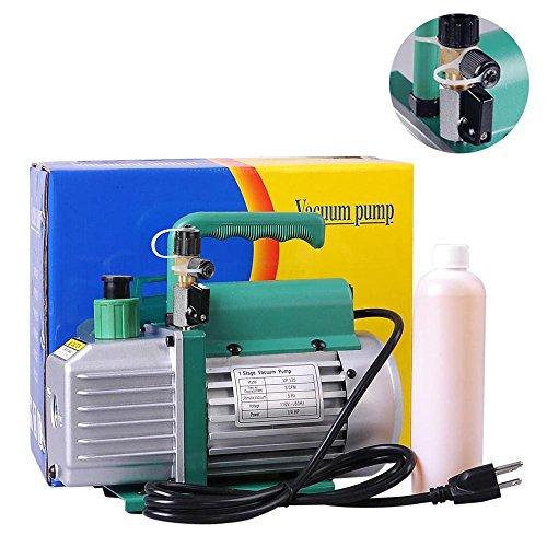 3Cfm 1/4Hp Refrigerant Electric Rotary Vacuum Pump R410A R134A Hvac Deep Vane Shut Off Valve