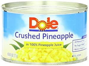 Dole Pineapple Crushed in Juice, 8-Ounce Cans (Pack of 24)