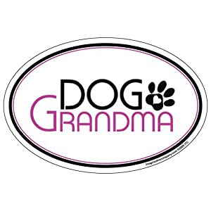 Imagine This Oval Magnet, Dog Grandma from Imagine This Company