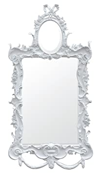"DUSX ""Etienne French Rococo"" Two Plate Mirror, White"