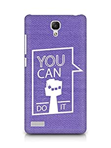 Amez You can Do It! Back Cover For Xiaomi Redmi Note 4G