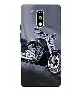 Moto G4 Play Bike Printed Blue Hard Back Cover By Make My Print