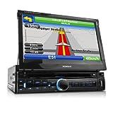 XOMAX XM-DTSBN911 Autoradio mit Navigation + GPS Navi inkl. Software KUDOS Navigator und Karten + Bluetooth Freisprecheinrichtung und -Musikwiedergabe via A2DP Smartphone, MP3-Player etc. + 7