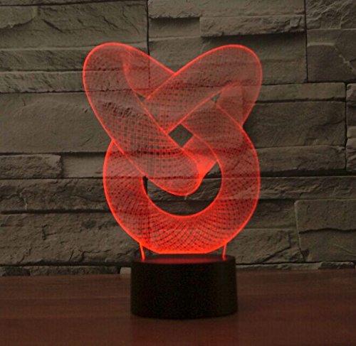 LED ... & LED Night Lamp - Kids Desk Room Chain Link Art Sculpture Lights up ...