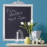 Wallies Peel & Stick Vinyl Wall Decals, Chalkboard Decal Wall Sticker with Preprinted Vintage Whitewash Frame