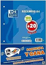 Comprar Oxford 400058179 - Pack de recambios A4, 100 + 20 hojas
