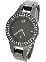 Armani Exchange Gun Metal Bracelet Ladies Watch - AX4093