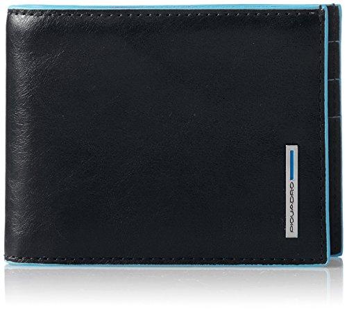Piquadro PU1133B2/N Blue Square Portafoglio, Nero, 12 cm
