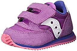Saucony Girls\' Baby Jazz Crib Sneaker (Infant), Purple/Pink, 2 M US Infant