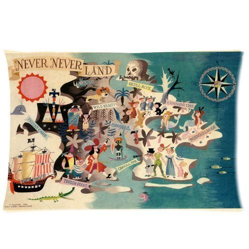 Personalized Neverland Peter Pan Rectangle Pillow Cases 20x30 inch (one side) (Peter Pan Gifts compare prices)
