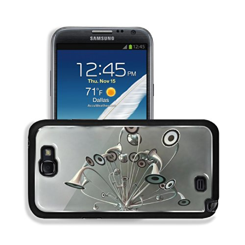 Variety Silver Metallic Speaker Design Samsung Galaxy Note 2 Snap Cover Premium Aluminium Design Back Plate Case Customized Made To Order Support Ready 6 Inch (152Mm) X 3 2/8 Inch (82Mm) X 4/8 Inch (13Mm) Luxlady Galaxy Note 2 Professional Metal Cases Tou