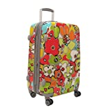 Olympia Luggage Blossom 21 Inch Expandable Hard Ca...