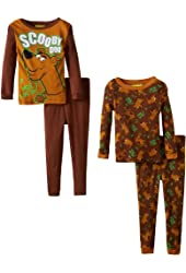 Komar Kids Little Boys' Scooby Doo 4 Piece Sleep Set