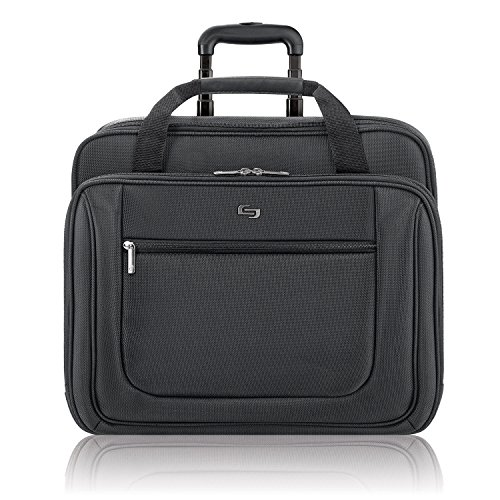 Solo Classic Rolling Laptop Portfolio Case For Notebook Computers Up To 17 Inches, Black (Pt136-4) front-341247