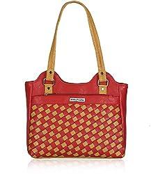 Fantosy Women's Handbag Red and Beige (FNB-569)