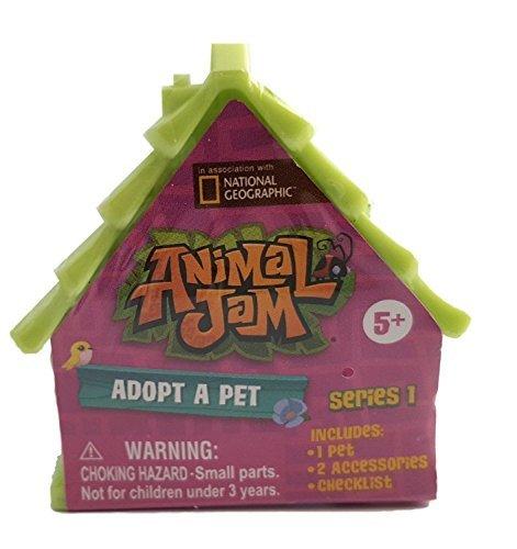 Set of 4: Animal Jam Adopt A Pet Blind Houses (Pink, Blue, Green,Orange)