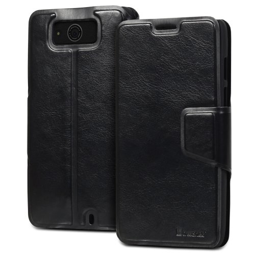 =>  GreatShield SHIFT LX Leather Wallet Case with Card Slots for Motorala Droid Maxx / XT1080M (Black)