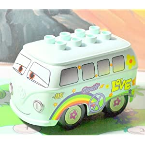 Lego CarsTM Hippie Vw Bus Brand New Never Played With. Van Only, Duplo(No Box in Bag)