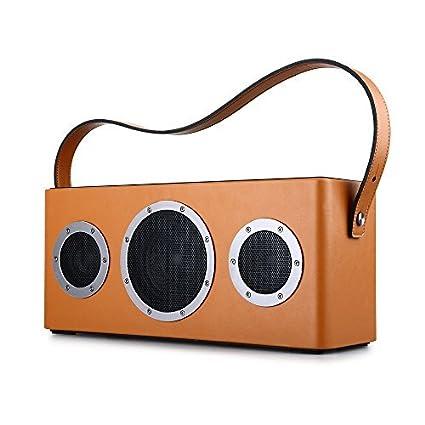 Haut-Parleur Sans Fil Hi-Fi Audio, GGMM®M4 Portable WiFi Bluetooth 4.0 Speaker 40W Stéréo 2.1 Streaming Système - AirPlay DLNA Speaker Support Spotify avec Fonction Multi-Room - Hi Fi Musique Parfaite Dans une Distance 10-50 M&egr