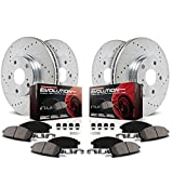 Power Stop K2816 Front and Rear Z23 Evolution Brake Kit with Drilled/Slotted Rotors and Ceramic Brake Pads