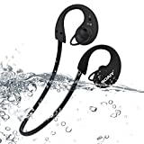 Bluetooth Headphones, SOAIY Water Resistant(IP66) Sweatproof Sports Headphones,HD Stereo In ear Headsets, Noise Canceling Earphones with Mic, compatible with common bluetooth device (Black)
