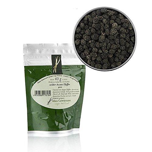 Wilder Assam Pfeffer, ganz, Altes Gewürzamt Ingo Holland, 40g Aromatüte