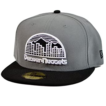 NBA Denver Nuggets Storm Gray Black 2 Tone Basic 5950 By New Era by New Era
