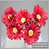 X5 single stem red gerbera artificial silk