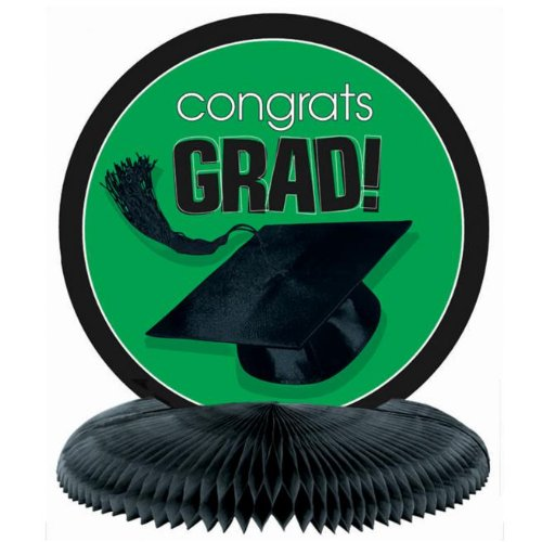 Congrats Grad Green Honeycomb Centerpiece
