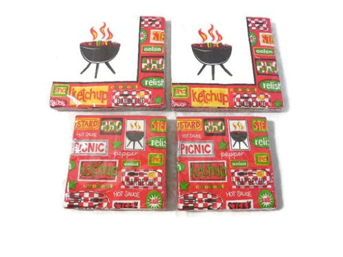Party Creations Chill & Grill Beverage & Lunch Napkins (4 Pack)