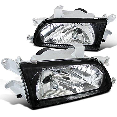Spec-D Tuning LH-TER95JM-GD Toyota Tercel JDM Crystal Black Headlights Pair Head Lamps Pair (Toyota Tercel Headlights Jdm compare prices)