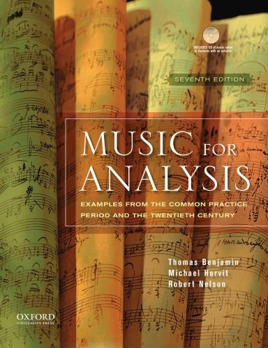 Music for Analysis: Examples from the Common Practice...