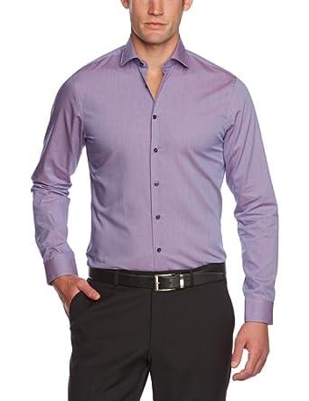 Schwarze Rose Herren Businesshemd Slim Fit 227355, Gr. 41, Rot (44 rot)