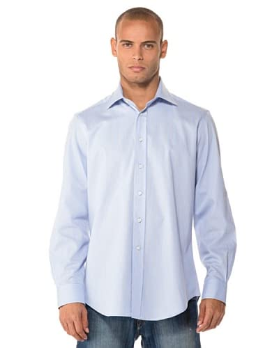 Camicissima Camicia Slim Fit Righe [Azzurro/Senape]
