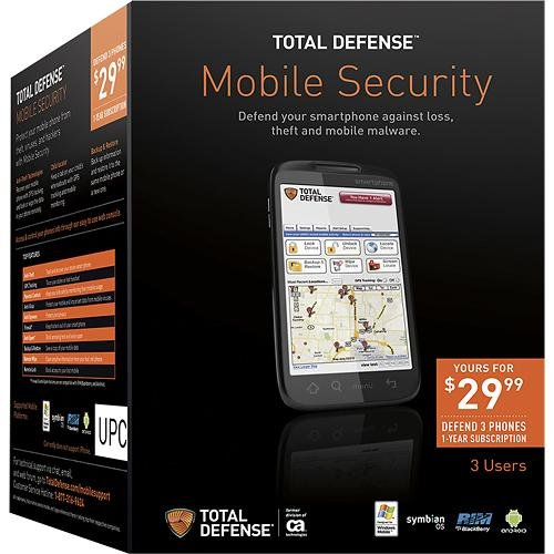 Total Defense Mobile Phone Security Software, 3 Devices, 1 Year Subscription (Travel Software compare prices)