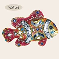BEJEWELED FISH WALL ART