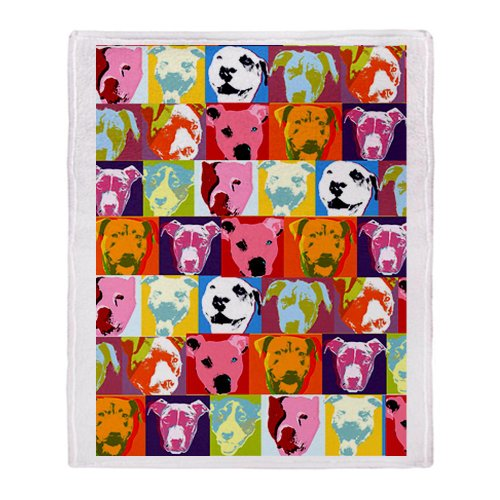 CafePress - Pop Art Pit Bulls Blanket - Soft Fleece Throw Blanket, 50