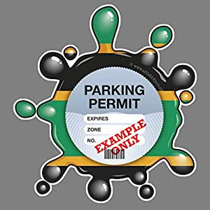 Parking Permit Holder Skin NORTHAMPTON SAINTS RUGBY - FREE POSTAGE
