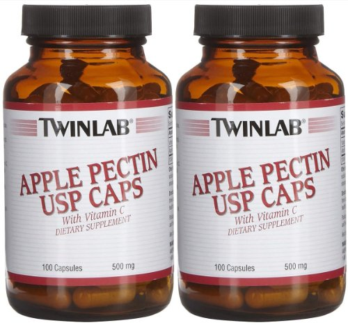 Twinlab Apple Pectin Usp 500 Mg Caps, 2 Pk
