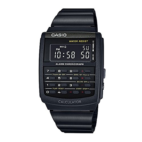 Casio Mens E-Data-Bank Calculator Watch Digital Calculator Watch CA-506B-1A. A modern version of the classic design.