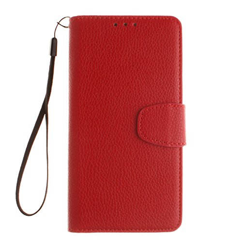 Cozy Hut Huawei Honor 7 Bookstyle Étui rouge Housse en Cuir Case à rabat pour Huawei Honor 7 Coque de protection Portefeuille TPU Case - rouge