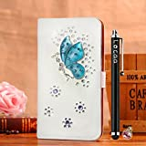 Locaa(TM) For LG Optimus L50 LGL50 3D Bling Case + Phone stylus + Anti-dust ear plug Deluxe Luxury Crystal Pearl Diamond Rhinestone eye-catching Beautiful Leather Retro Support bumper Cover Card Holder Wallet Cases - [General series] crystal fairy