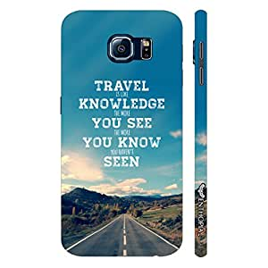 Samsung Galaxy S6 Travel is Knowledge designer mobile hard shell case by Enthopia