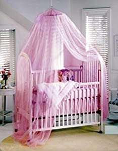 Baby Mosquito Net Baby Toddler Bed Crib Canopy Netting (Pink)