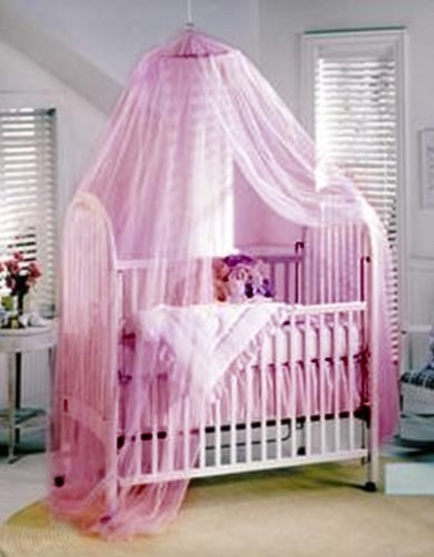 Nsstar New Cool Children Baby Mosquito Net Baby Toddler Bed Crib Canopy Netting (Pink)