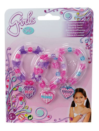 Simba Simba Steffi Love Girls Friendship Bracelet, 2 Assorted, Purple\/Pink (Multicolor)
